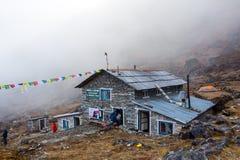 Mountain Hut In Nepal Himalaya Mountains Royalty Free Stock Images
