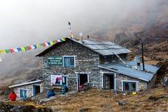 Mountain Hut In Nepal Himalaya Mountains Royalty Free Stock Photo