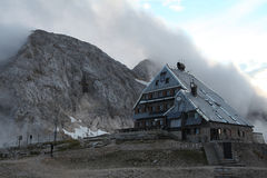 Mountain hut in the Julian Alps, Slovenia. Stock Images