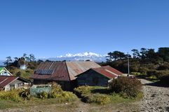 Mountain Hut With Kangchenjunga. Stock Images