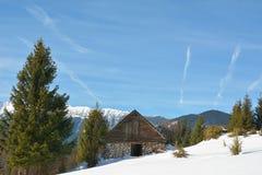 Mountain hut Stock Photo