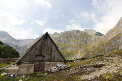 Mountain hut in National Park Stock Photo