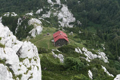 Mountain Hut In National Park Royalty Free Stock Images