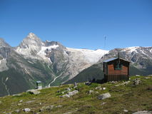 Mountain Hut near Abbott Ridge, Glacier National Park, British Columbia Royalty Free Stock Photography