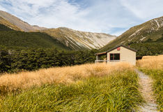 Mountain hut in Nelson Lakes National Park Stock Photos