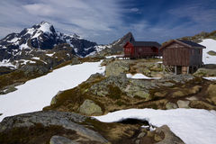 Mountain hut in Norway Stock Photos