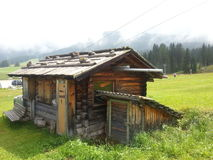 Mountain hut in Pana mountain Royalty Free Stock Images