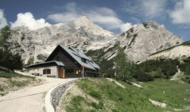 Mountain hut Postarski dom Stock Photography