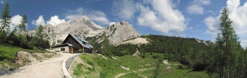 Mountain hut Postarski dom Royalty Free Stock Photo