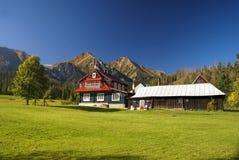 Mountain hut in Slovakia Stock Photos