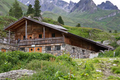 Mountain hut in South Tyrol, Italy Royalty Free Stock Photography