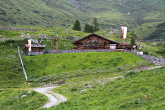 Mountain hut in South Tyrol, Italy Royalty Free Stock Image