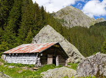 Mountain hut, Switzerland Royalty Free Stock Photography
