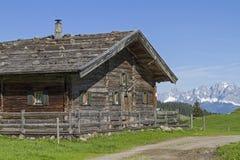 Mountain hut in Tyrol Stock Photo