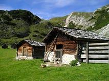 Mountain huts royalty free stock photos
