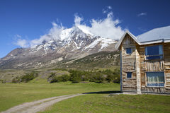Mountain huts. National Park Torres del Paine, Chile, Patagonia Stock Image