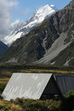 Mountain huts in Mount Cook National Park Stock Image