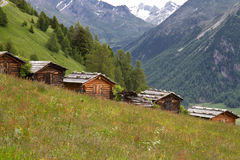 Mountain huts in South Tyrol, Italy Royalty Free Stock Photo