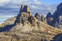 Mountain hutte Royalty Free Stock Images