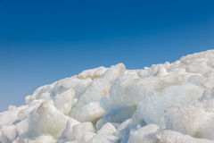 Mountain ice against the blue sky Royalty Free Stock Photo