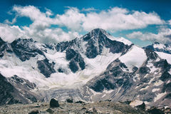 Mountain with ice Stock Photo
