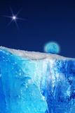 Mountain  ice   iceberg  moon Stock Photo