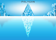 Mountain ice low poly style with reflection Royalty Free Stock Photography