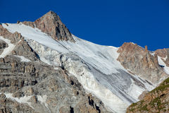 Mountain with ice slope. Tien Shan Royalty Free Stock Image