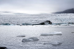 Mountain, iceberg and lagoon. Iceland Royalty Free Stock Photos