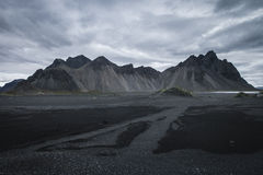 Mountain in Iceland. Mountain called Horn in south east Iceland Royalty Free Stock Images