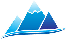 Mountain icon. Mountain with ice. Vector illustration Stock Images