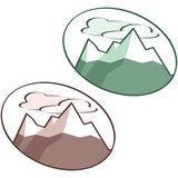 Mountain icon Stock Photos