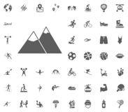 Mountain icon. Sport illustration vector set icons. Set of 48 sport icons. Mountain icon. Sport illustration vector set icons. Set of 48 sport icons Royalty Free Stock Photography