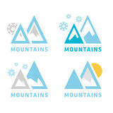 Mountain icon Stock Photo