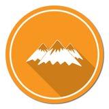 Mountain icon. Vector concept illustration Stock Photo