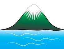 Mountain. The mountain icon vector on white background Royalty Free Stock Photo