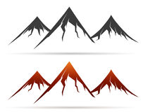 Mountain icon on white background Royalty Free Stock Photography