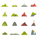 Mountain icons Stock Photo