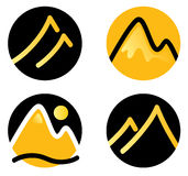 Mountain icons set Royalty Free Stock Image