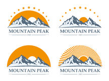Mountain icons set Royalty Free Stock Images