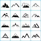 Mountain Icons Set stock illustration