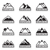 Mountain icons set Royalty Free Stock Photos