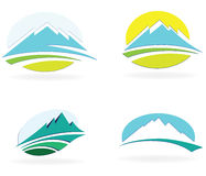 Mountain icons Stock Photos