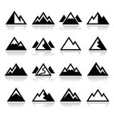 Mountain  icons set Royalty Free Stock Image