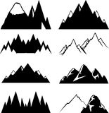 Mountain icons set for you design Stock Images