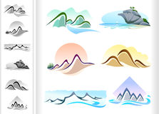 Mountain ICONS - Six Pack Royalty Free Stock Photos