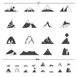 Mountain icons vector. Illustration of mountain icons vector Royalty Free Stock Photography