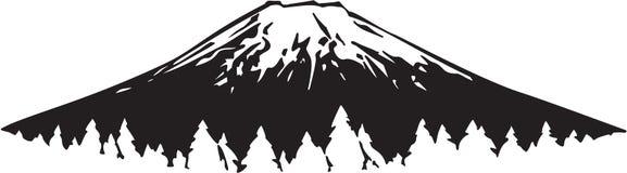 Mountain Illustration. Illustration of a Mountain Scene stock illustration