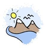 Mountain illustration Stock Photo