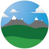 Mountain illustration Stock Photography